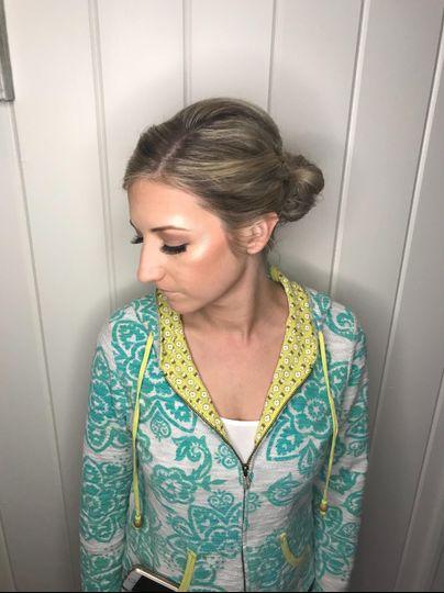 Makeup and updo