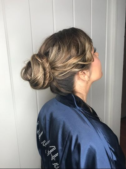 Updo with curls