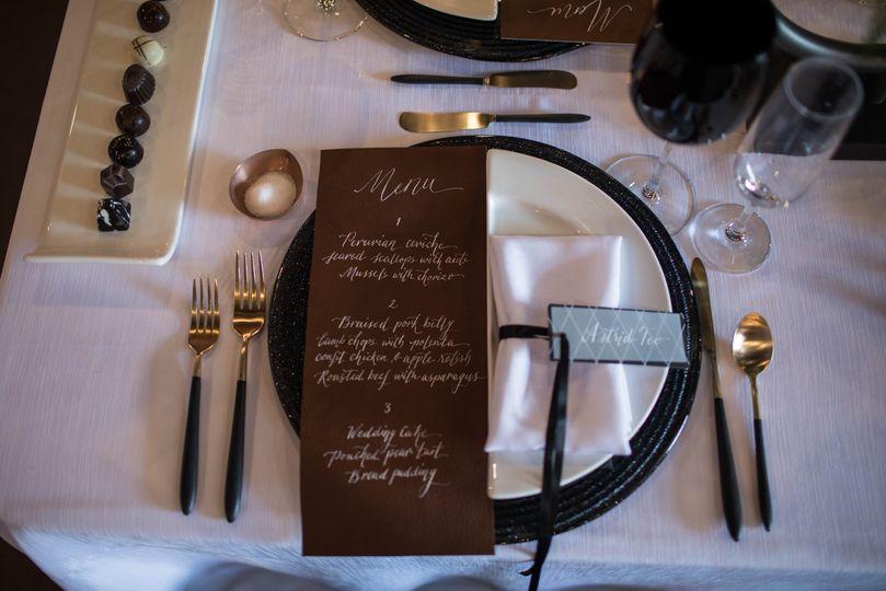 Leather menu
