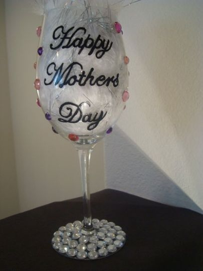 Happy Mothers Day Glass