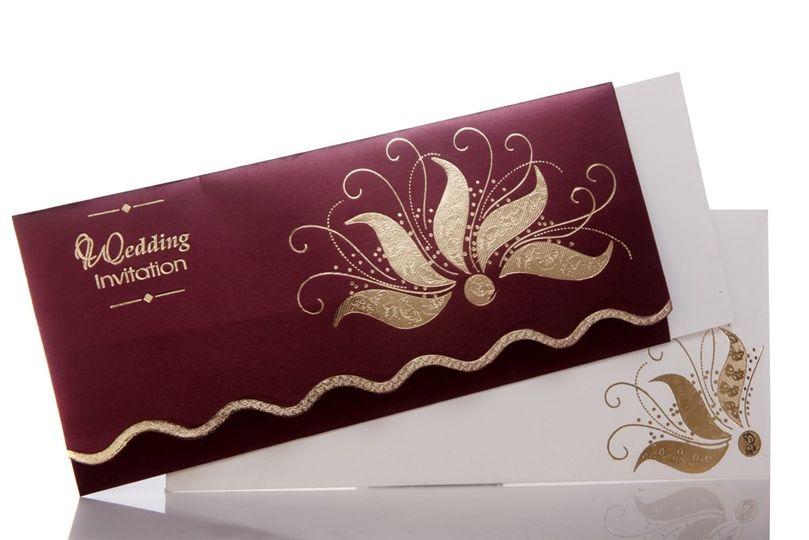 wedding invitation with wine color background i 43