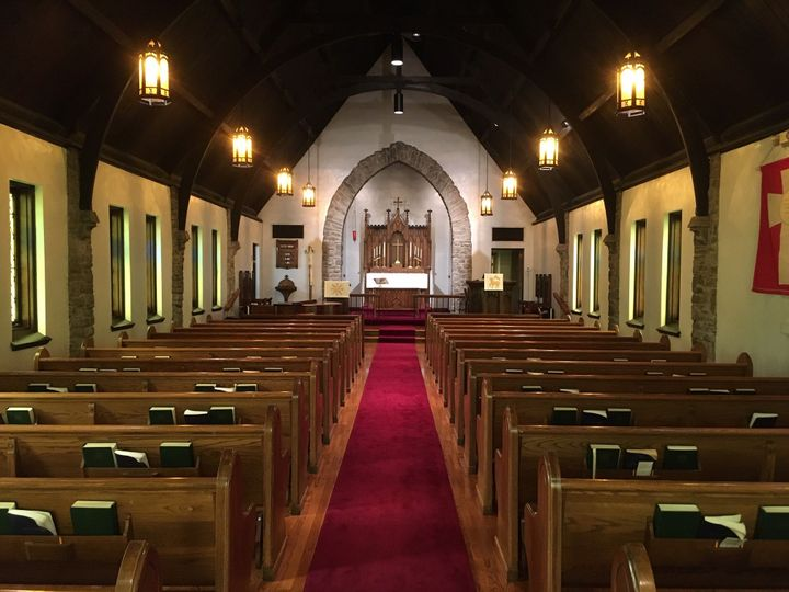 Sanctuary with center aisle