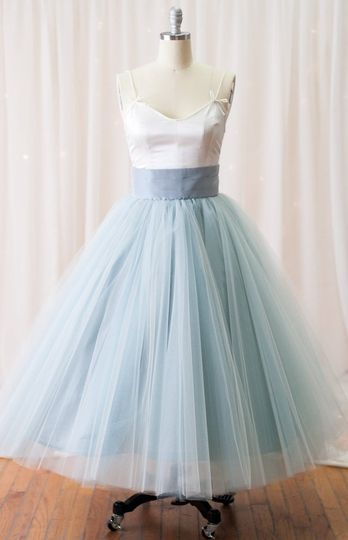 Silk tulle and blue color