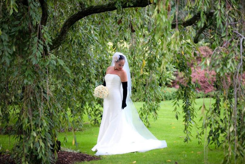Custom wedding gown for the big day