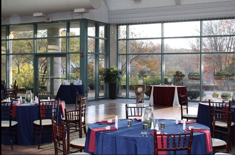 Tables set, J & H Wedding Reception