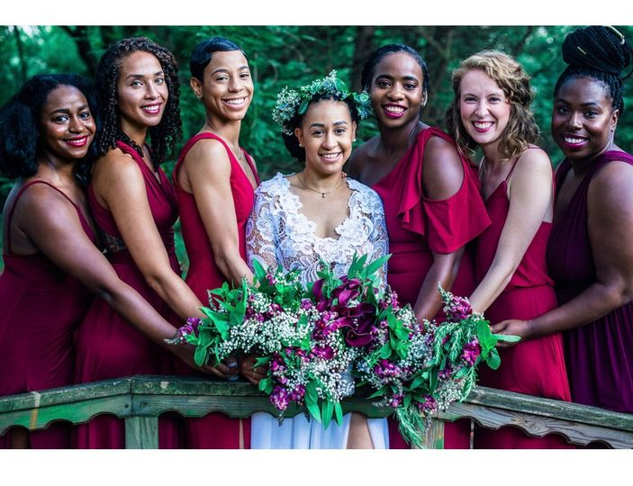 Bride, Morgan and Bridesmaids
