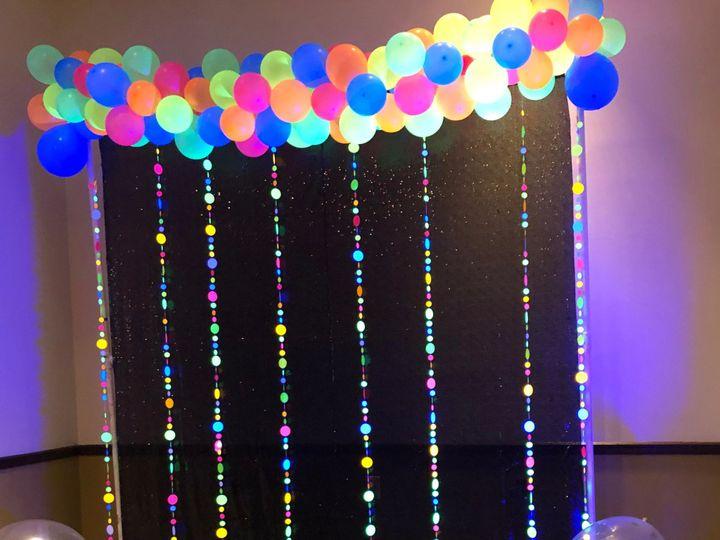 Tmx Black Light Balloon Backdrop 51 1039699 1566175647 Glen Burnie, MD wedding eventproduction
