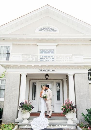 Kiss on the porch