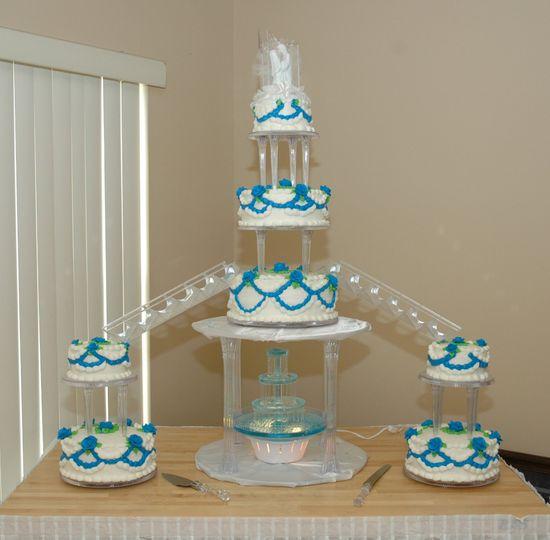 Seven-tier cake