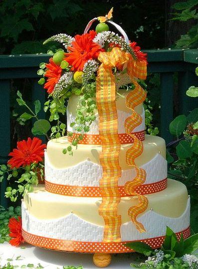 Orange themed cake