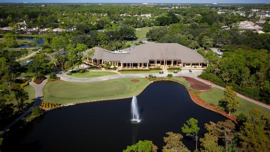 Aerial view of the country club