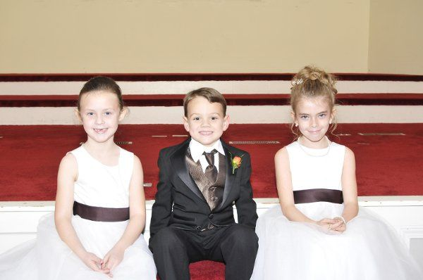 The flower girls and ring bearer are sometimes the most eager to have their pictures taken. These...
