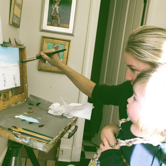 Painting with my daughter