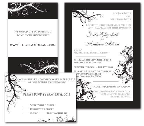 WeddingInviteBlackWhite
