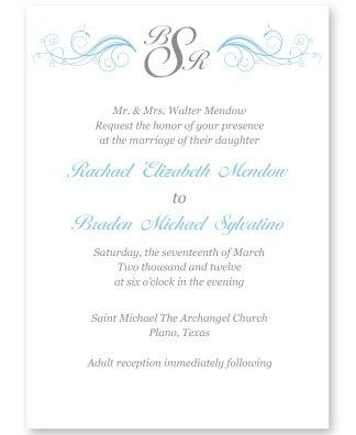 Tmx 1331330570055 WeddingInviteBlueGray Mandeville wedding invitation