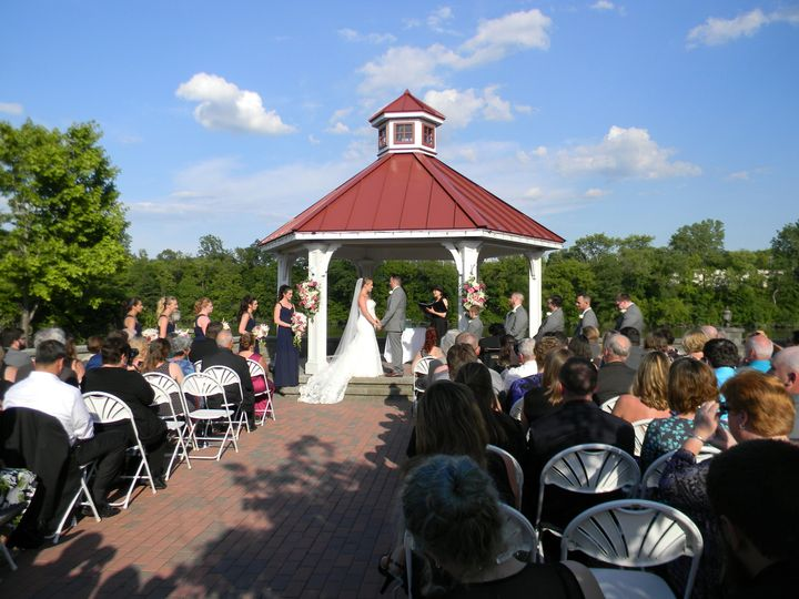 Ceremony at the gazebo