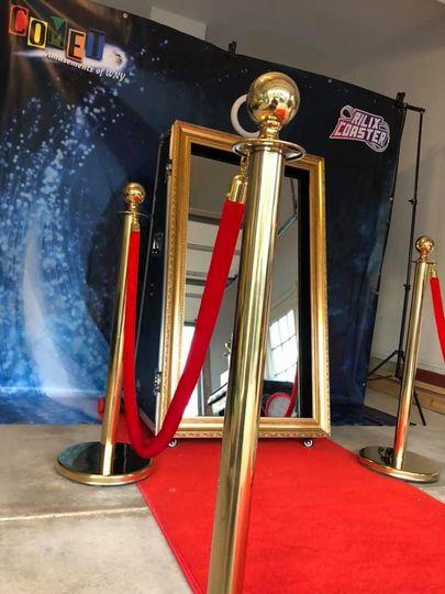 Red velvet rope in the VIP section