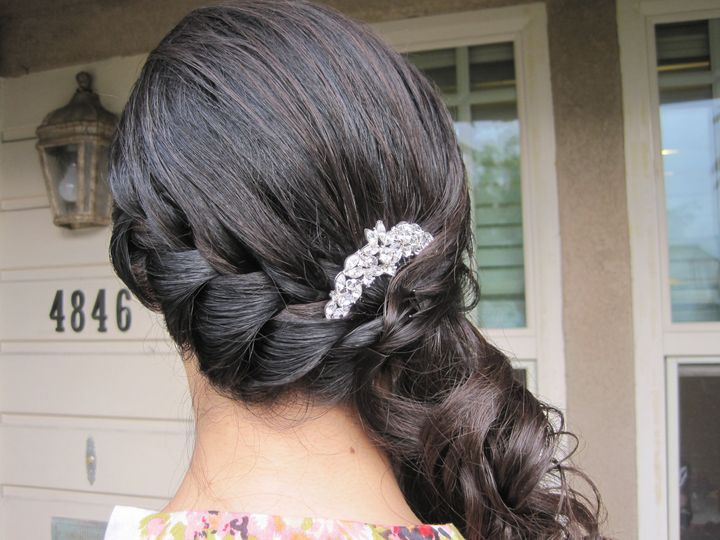 Tmx 1416525345698 Half Updo By Meleah San Diego, California wedding beauty