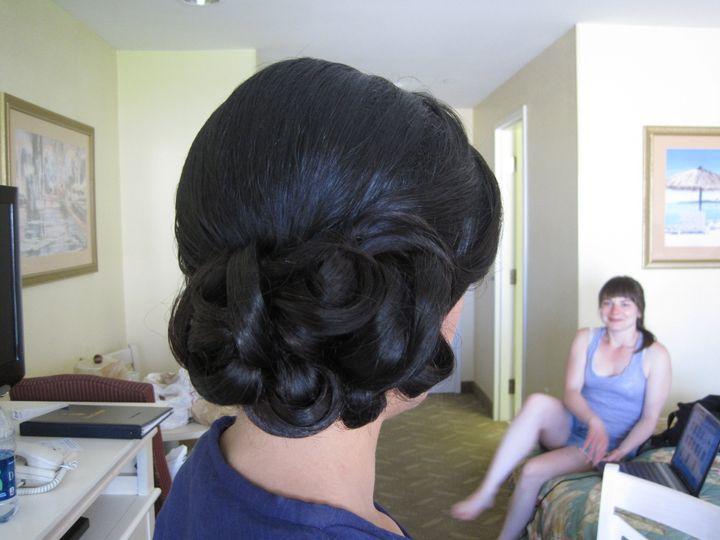Tmx 1416525381588 Side Bun With Smooth Curls By Meleah San Diego, California wedding beauty