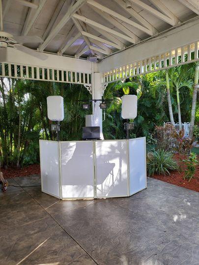 Semi-outdoor DJ booth
