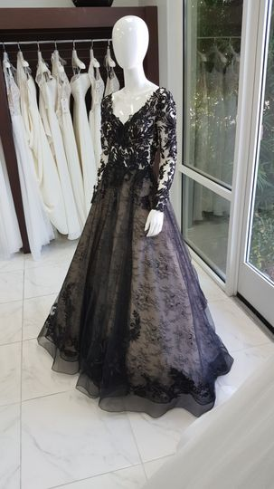 Love a black wedding dress