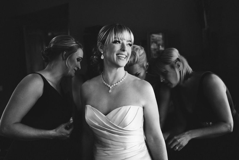 Tahoe Bride getting ready with bridesmaids and family for The Edgewood lodge on Lake Tahoe.