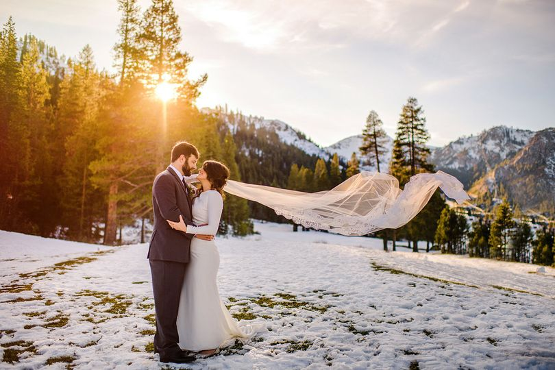 winter wedding at Squaw Valley Resort in the snow. Get married there with a hotel and various...