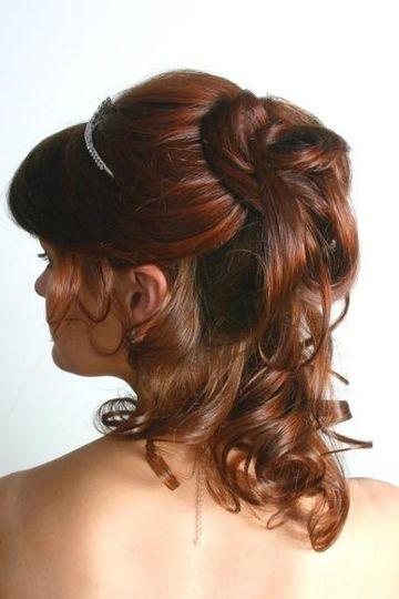 Bridal pony tail hair style