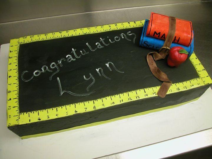 "Italian Buttercream ""Chalkboard"" cake decorated with fondant"