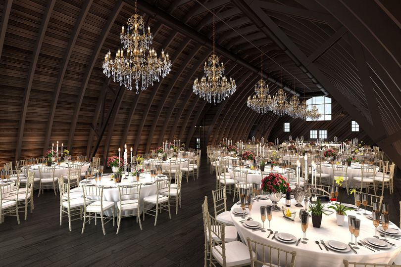 Our upper banquet hall features cathedral ceilings and seats up to 300 guests.