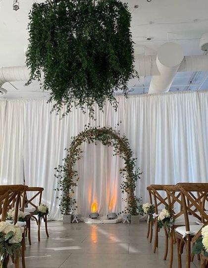 Ceremony Arch & CHandelier