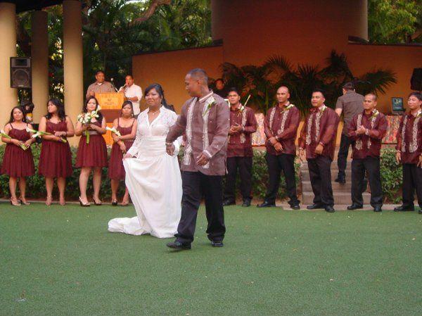 Ivy and Winlove wedding August,2009 Halekoa Hotel