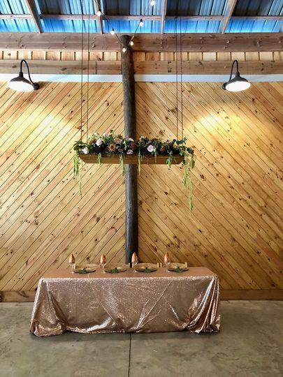 Bridal table at reception