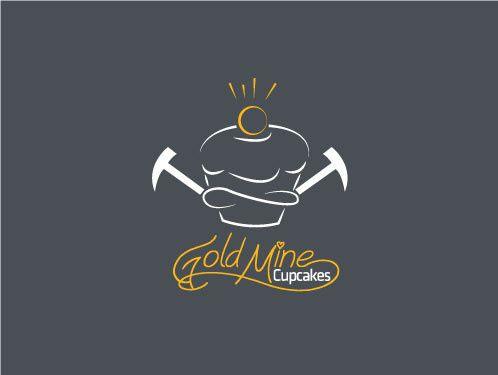 gold mind cupcakes logo fina