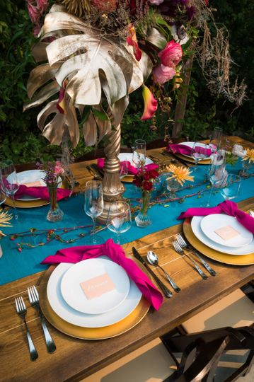 Detailed tablescape