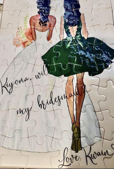 Bridal proposal puzzle