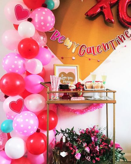 Styled galentine's party