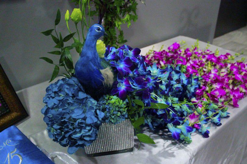 Fresh Floral Peacock