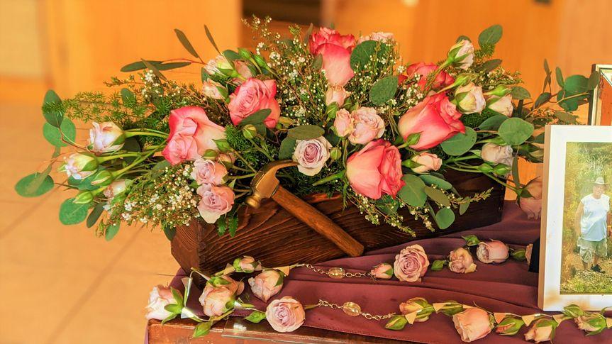 Funeral Table Arrangement