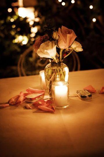 Elegent Sweetheart Table Centerpiece
