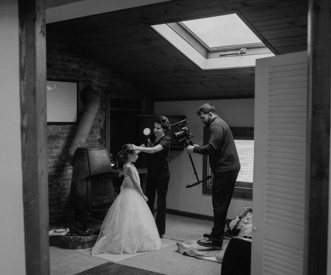 Filming the Flower Girl :)