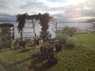 Birch chuppah also available.