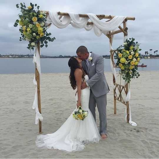 Beautiful wedding at the Catamaran!