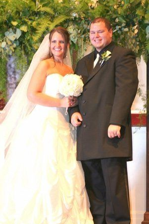 This is just after they were pronounced husband and wife and were presented to the guests...