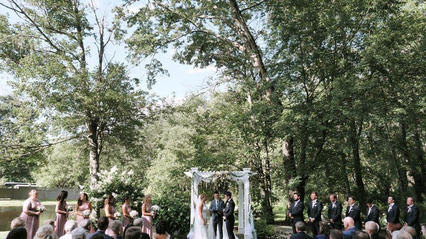Verdant green ceremony