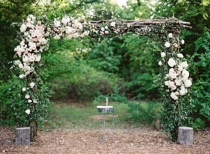 Wedding arbor | Lauren Peele Photography