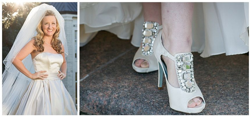 The shoes to match the white dress