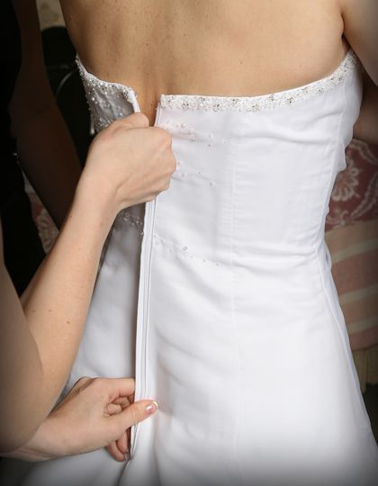 The all-important dress fitting