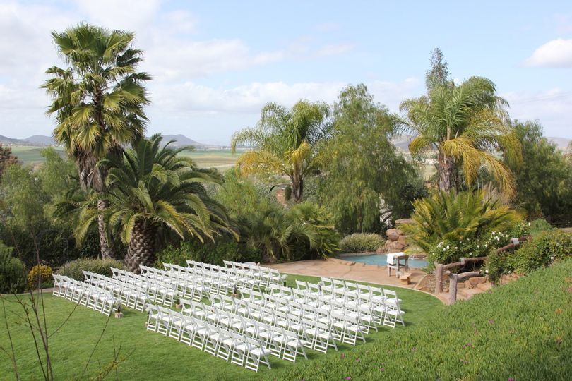 Outdoor ceremony area.