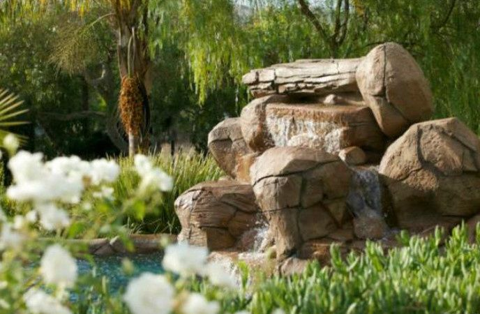 Water Feature/Water Fall. Ceremony area